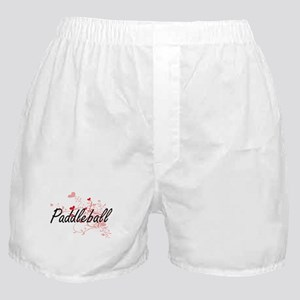 Paddleball Artistic Design with Heart Boxer Shorts