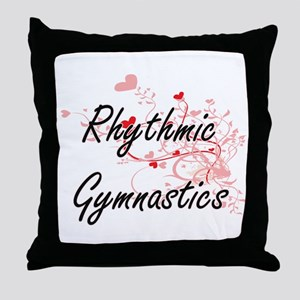 Rhythmic Gymnastics Artistic Design w Throw Pillow
