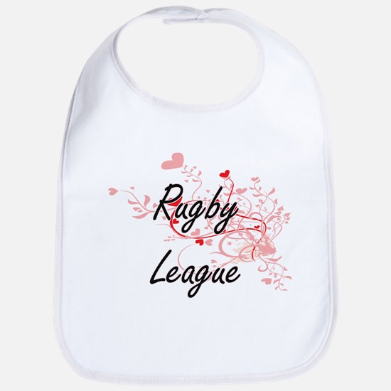 Rugby League Artistic Design with Hearts Bib