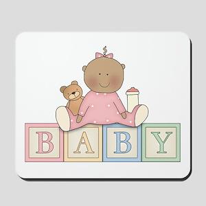 Baby Blocks Girl Ethnic Mousepad