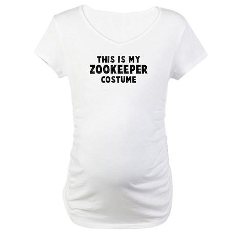 Zookeeper costume Maternity T-Shirt