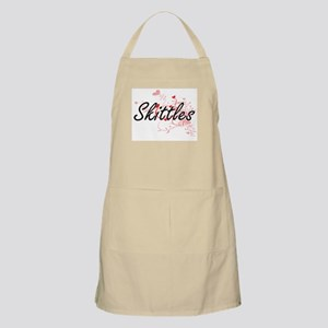 Skittles Artistic Design with Hearts Apron
