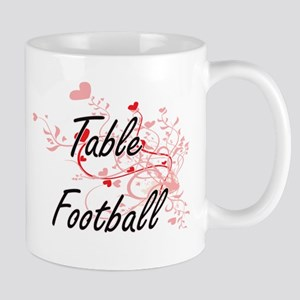 Table Football Artistic Design with Hearts Mugs