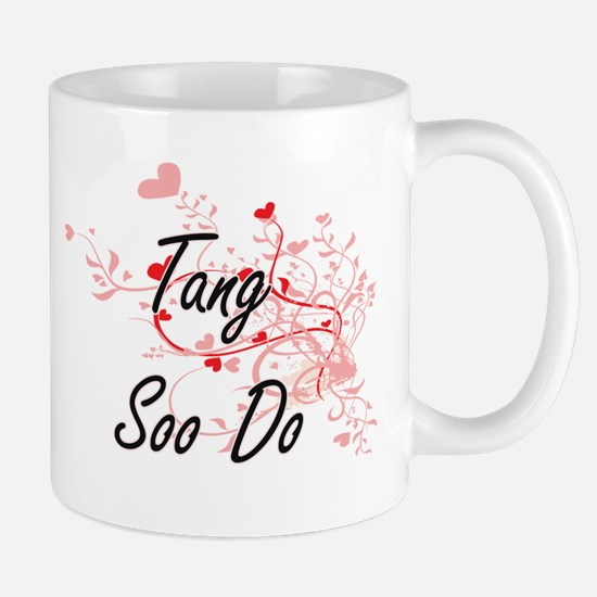 Tang Soo Do Artistic Design with Hearts Mugs