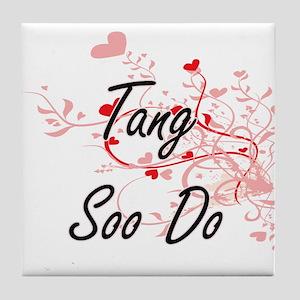 Tang Soo Do Artistic Design with Hear Tile Coaster