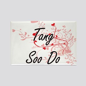 Tang Soo Do Artistic Design with Hearts Magnets