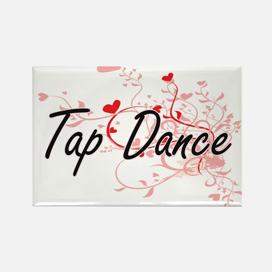 Tap Dance Artistic Design with Hearts Magnets