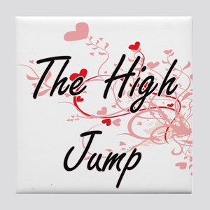 The High Jump Artistic Design with He Tile Coaster