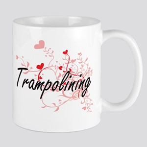 Trampolining Artistic Design with Hearts Mugs