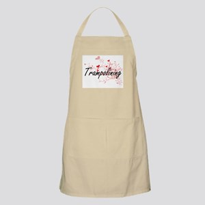 Trampolining Artistic Design with Hearts Apron