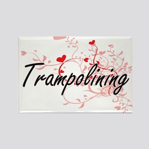 Trampolining Artistic Design with Hearts Magnets