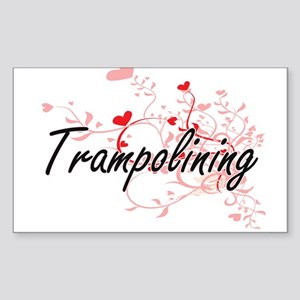 Trampolining Artistic Design with Hearts Sticker