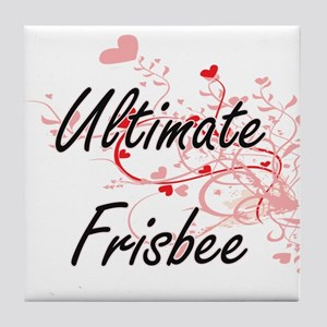 Ultimate Frisbee Artistic Design with Tile Coaster
