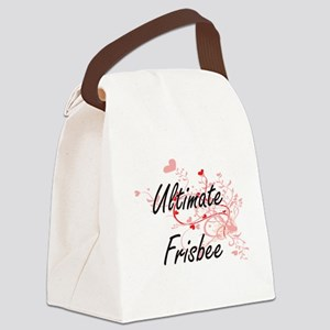 Ultimate Frisbee Artistic Design Canvas Lunch Bag