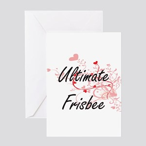 Ultimate Frisbee Artistic Design wi Greeting Cards