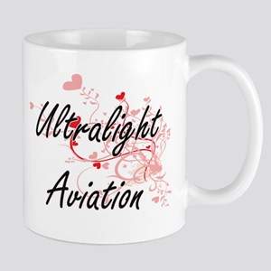 Ultralight Aviation Artistic Design with Hear Mugs