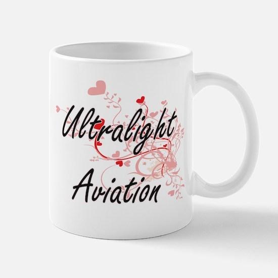 Ultralight Aviation Artistic Design with Hear Mugs