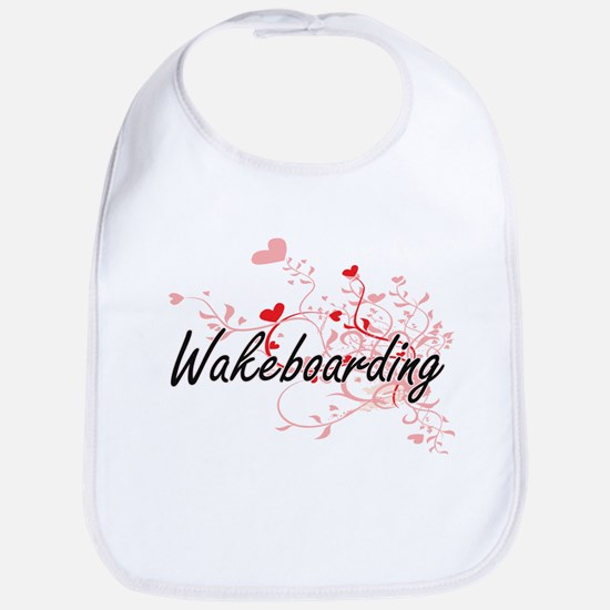 Wakeboarding Artistic Design with Hearts Bib