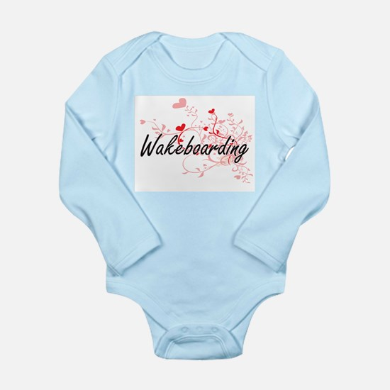 Wakeboarding Artistic Design with Hearts Body Suit
