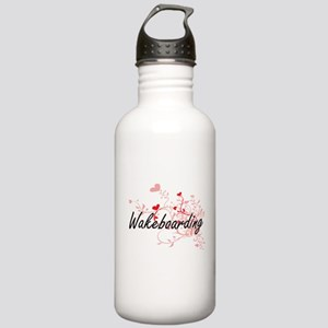 Wakeboarding Artistic Stainless Water Bottle 1.0L