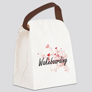 Wakeboarding Artistic Design with Canvas Lunch Bag