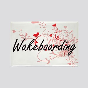 Wakeboarding Artistic Design with Hearts Magnets