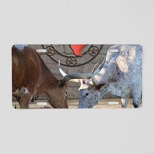 Texas Longhorns In Love Aluminum License Plate