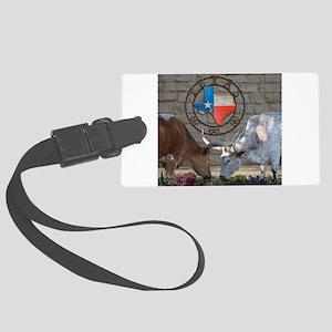 Texas Longhorns In Love Luggage Tag