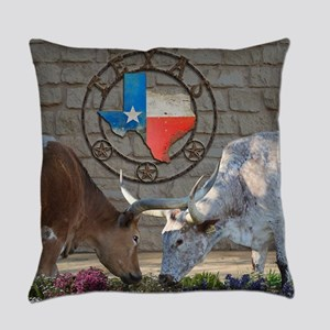 Texas Longhorns In Love Everyday Pillow