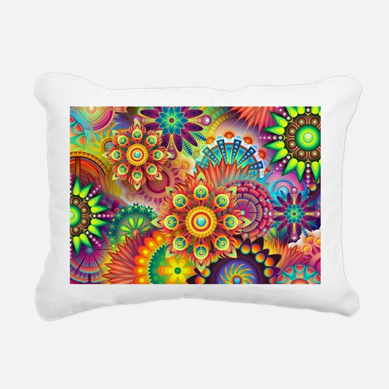 Funny Colorful Rectangular Canvas Pillow