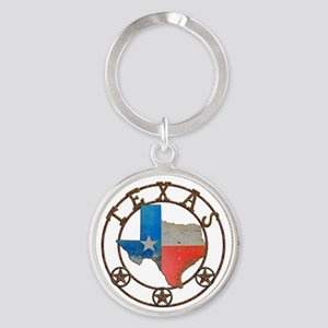 Texas Wrought Iron Barn Art Keychains
