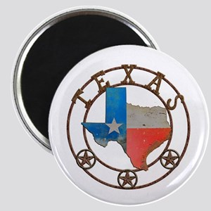 Texas Wrought Iron Barn Art Magnets