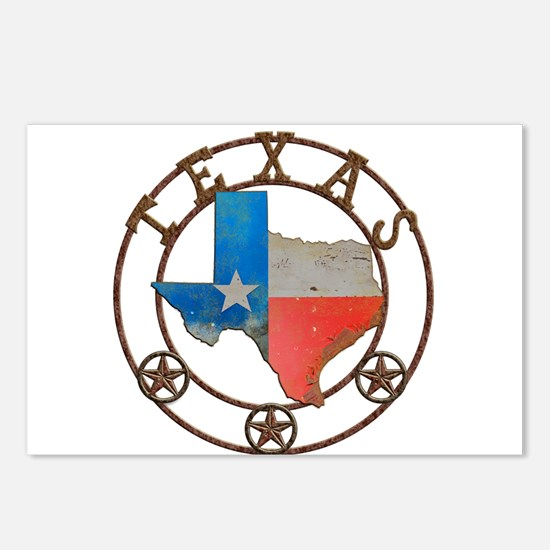 Texas Wrought Iron Barn Art Postcards (Package of
