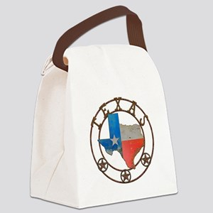 Texas Wrought Iron Barn Art Canvas Lunch Bag