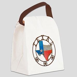 Texas Wrought Iron Barn Art Canvas Lunch Bag