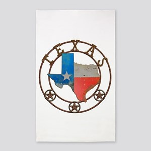 Texas Wrought Iron Barn Art Area Rug