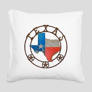 Texas Wrought Iron Barn Art Square Canvas Pillow