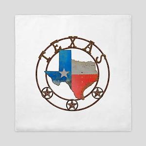 Texas Wrought Iron Barn Art Queen Duvet
