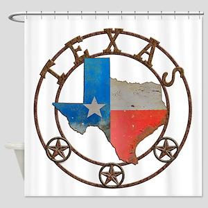Texas Wrought Iron Barn Art Shower Curtain
