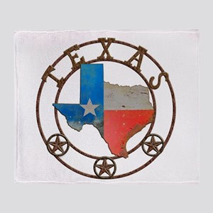Texas Wrought Iron Barn Art Throw Blanket