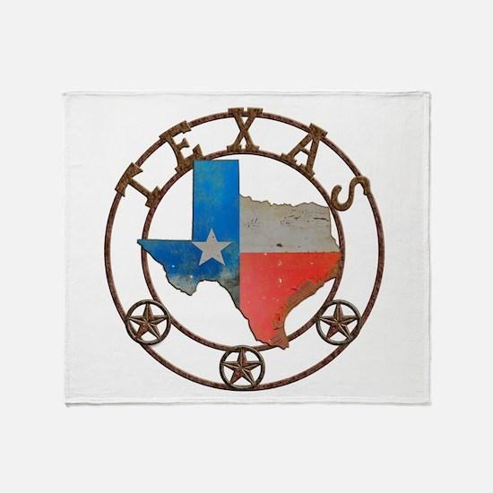 Texas Wrought Iron Barn Art Throw Blanket