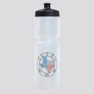 Texas Wrought Iron Barn Art Sports Bottle
