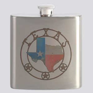 Texas Wrought Iron Barn Art Flask