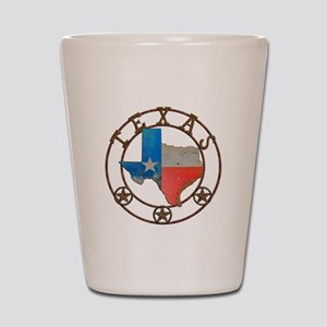 Texas Wrought Iron Barn Art Shot Glass