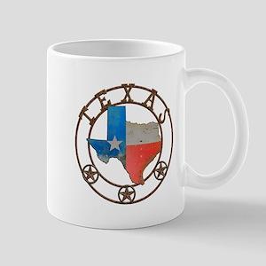 Texas Wrought Iron Barn Art Mugs