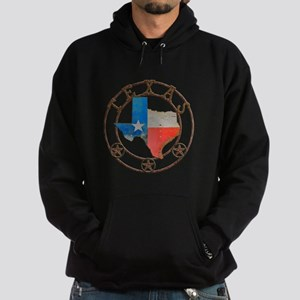 Texas Wrought Iron Barn Art Hoodie
