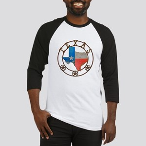 Texas Wrought Iron Barn Art Baseball Jersey