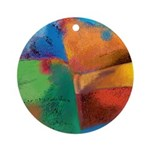 Tactile Round Ornament