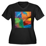 Tactile Women's Plus Size V-Neck Dark T-Shirt