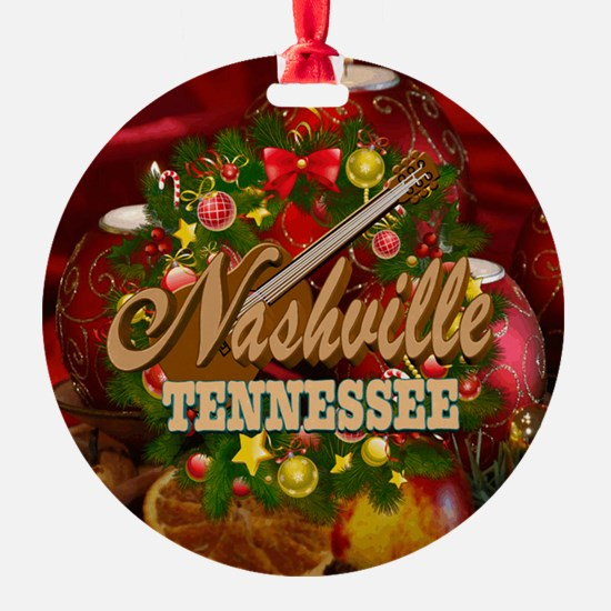 Nashville TN Christmas-SF-05 Ornament